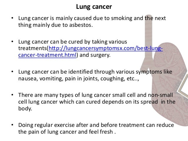 Natural Treatments For Small Cell Lung Cancer