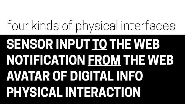 The Physical Interface
