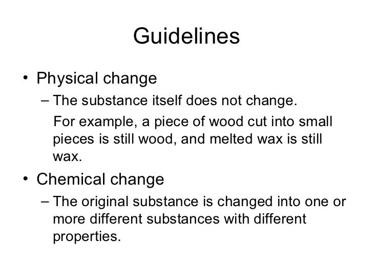 Physical Or Chemical Change Picture Quiz
