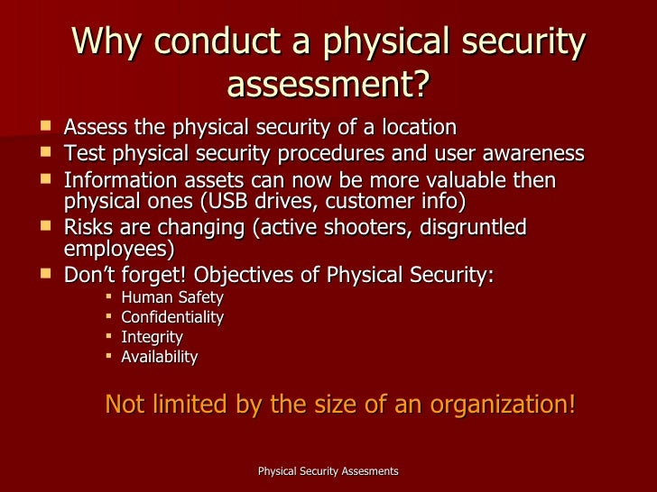 Physical security assessments for Physical security survey template