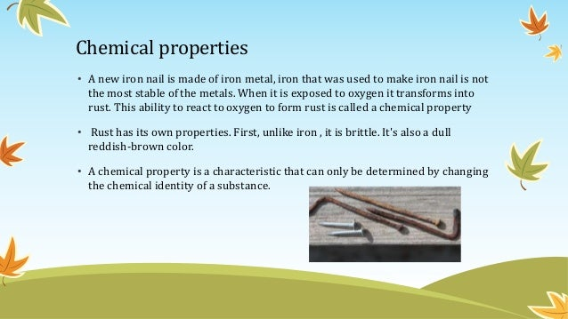 Physical Property Of An Iron Nail