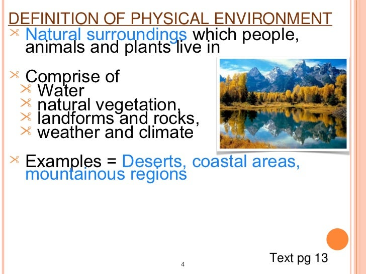 Physical And Human Environment Blog