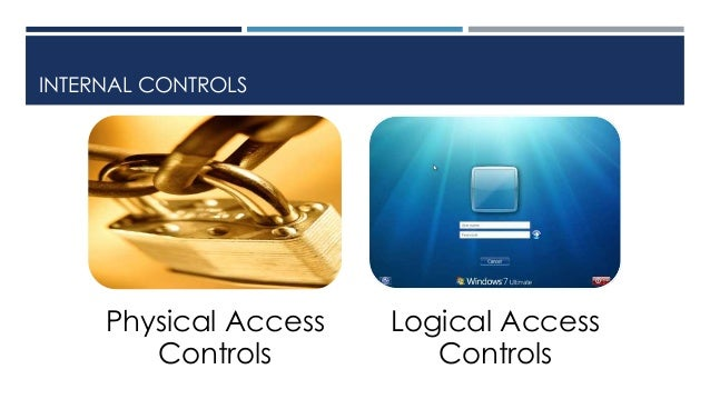 Physical and logical access controls - A pre-requsite for Internal Co…