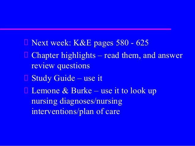 Lemone study guide