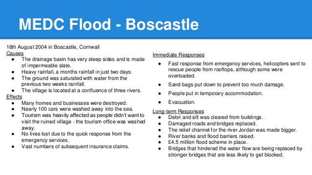 Boscastle 2004 MEDC Floods. Geography case study