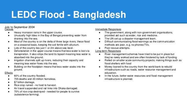 gcse geography ledc flooding case study
