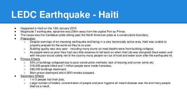 ledc earthquake case study gcse
