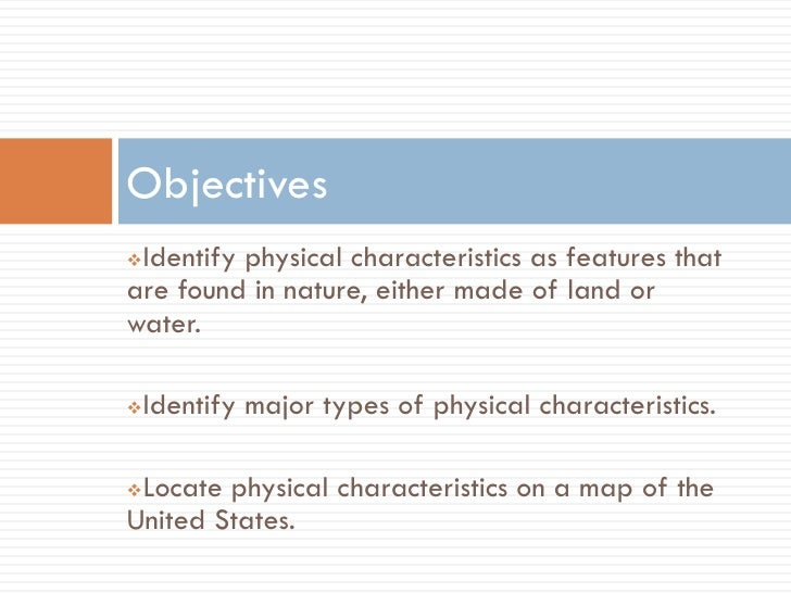 Physical Characteristics Of The United States Power Point - Major physical features of united states