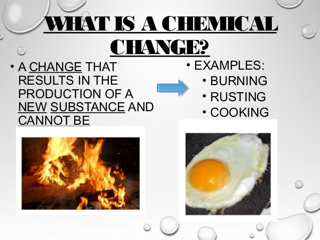 Physical Chemical Changes