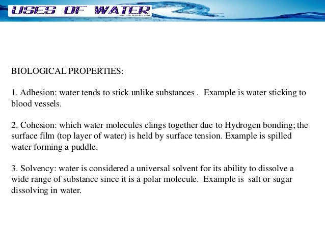 What Is An Example Of A Physical Property Of Water