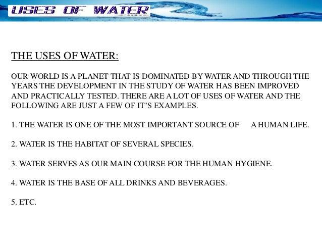 properties of water paragraph