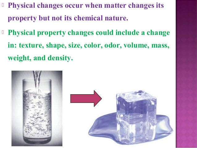 Physical & chemical change