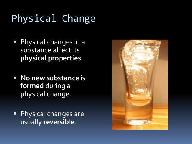 physical amp chemical change