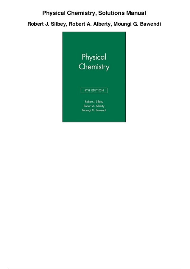 Physical Chemistry Solutions Manual Pdf