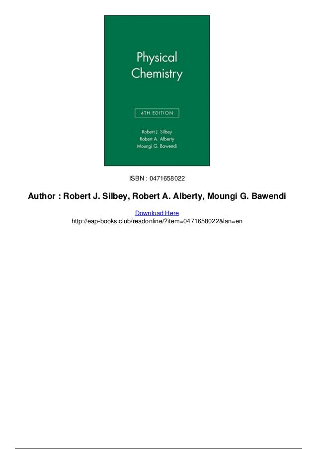 Physical Chemistry Silbey Solutions Manual
