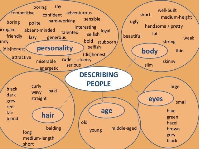 physical description vocabulary