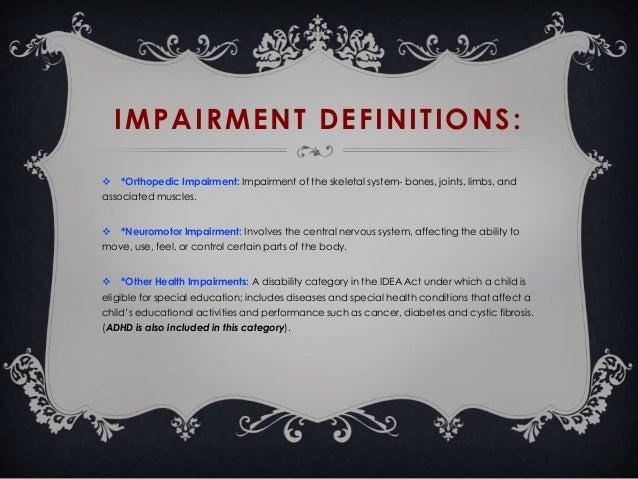 physical disabilities  health impairments   u0026 adhd presentation