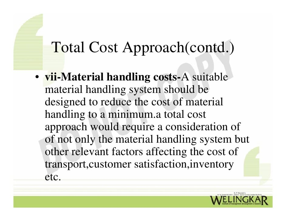 factors affecting material handling system