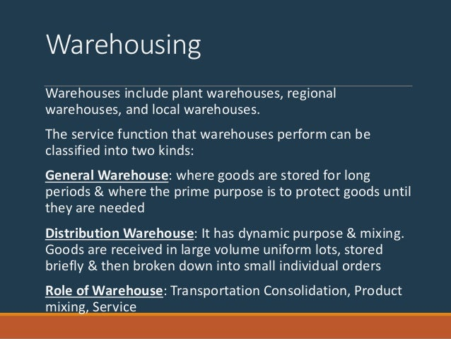 role of warehousing in physical distirbution system essay Role of warehousing in physical distribution system physical distribution is the movement of materials from the producer to the consumer this movement of materials is divided into two functions: physical supply is the movement and storage of goods from suppliers to manufacturing.