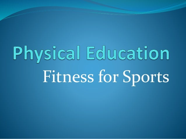 Fitness for Sports