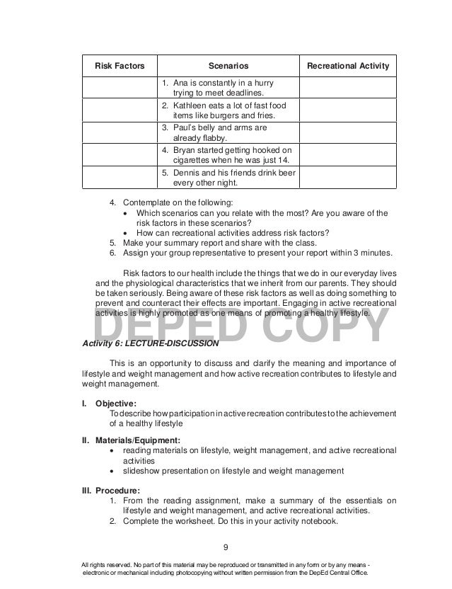 physical education written assignments Pat miller - 6/7th grade physical education   some of the standards are based on physical activity, while others are written assignments.