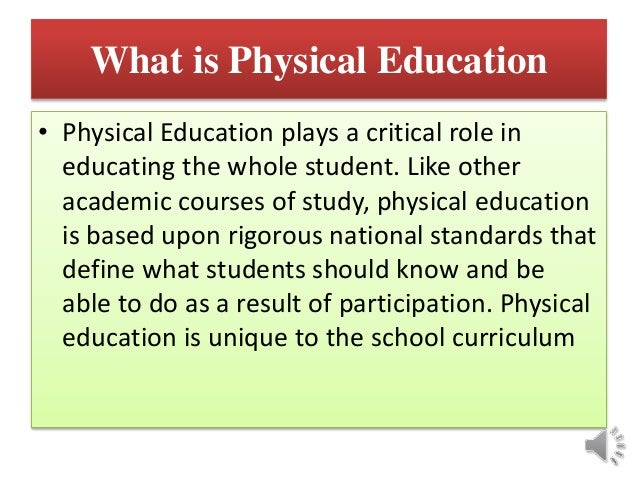 essay about physical education in school