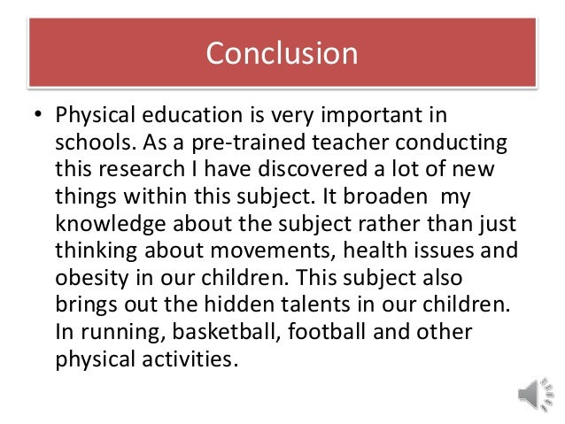 importance of physical education in schools Physical education essays - school sport  the purpose of this essay is to review existing evidence regarding physical education in schools.