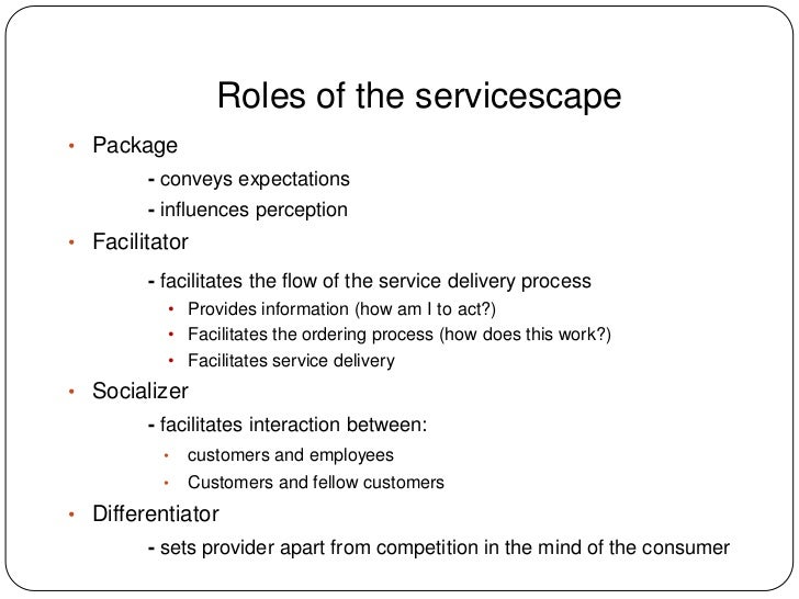 essay on servicescape