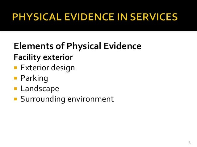 Physical evidence in educational services