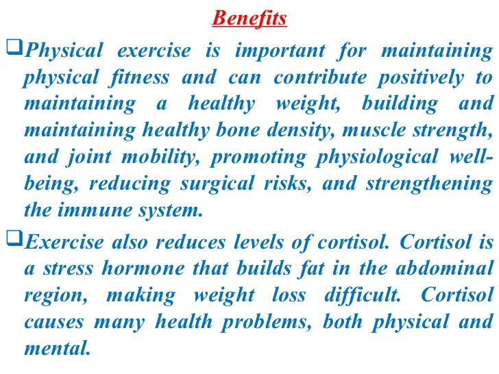 physical exercise  accuracy 6 benefitsphysical exercise is important
