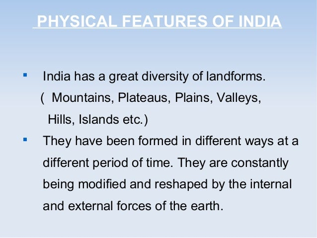 physical features of india pdf