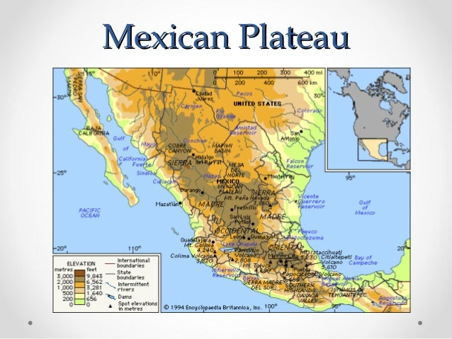 Plateau Of Mexico Map General Info   Mexico