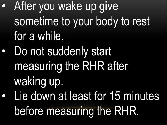 You compare your workout heart rate with your heart rate after you have recovered for 1 - 2 minutes. If you do not have mu...
