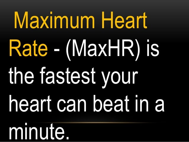 STEP 1: Find the MaxHR MaxHR = 208 -.7(Age) 208 - .7(12) 208 – 8.4 =199.6 (MaxHR)