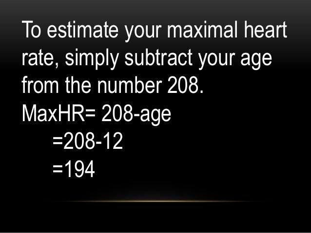 STEP 3: Compute Minimum HR for Moderate Exercise HRR x 40% + RHR 129.6 x .40 + 70 51.84+ 70 =121.84