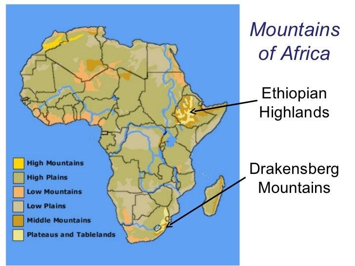 Africa Physical Map Mt Kilimanjaro Creativehobby Store