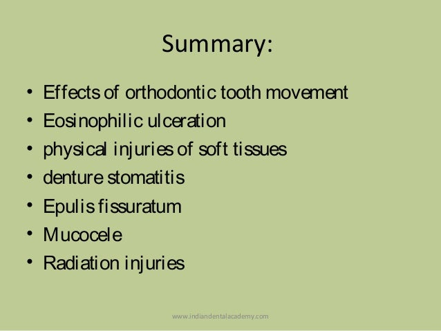 Physical & Chemical Injuries Of The Oral Cavity / oral ...