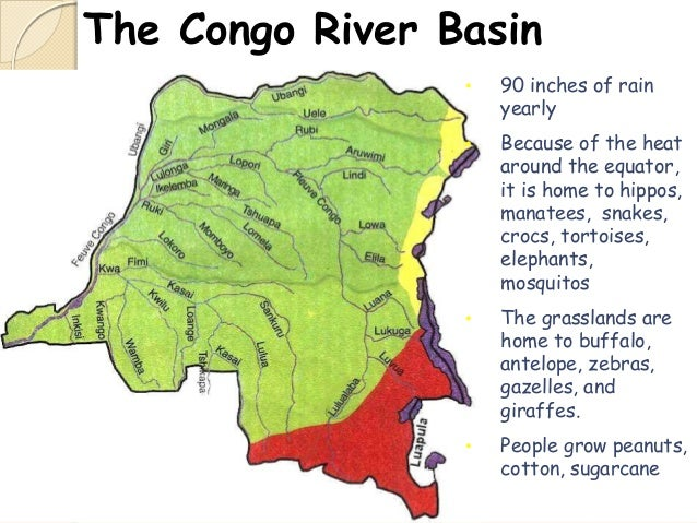Congo Basin On Map Of Africa.Physical Map Of Africa