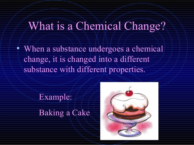 Cake Baking Chemical Or Physical Change
