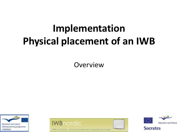 ImplementationPhysical placement of an IWB          Overview