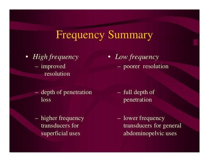 Low frequency penetration