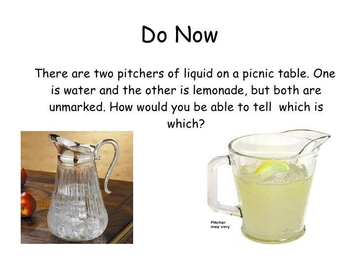 Two Physical Properties Of Lemonade