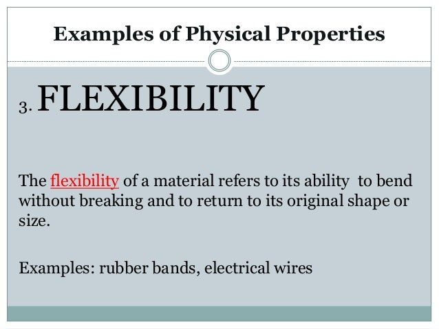 Physical Property Definition Physical Science