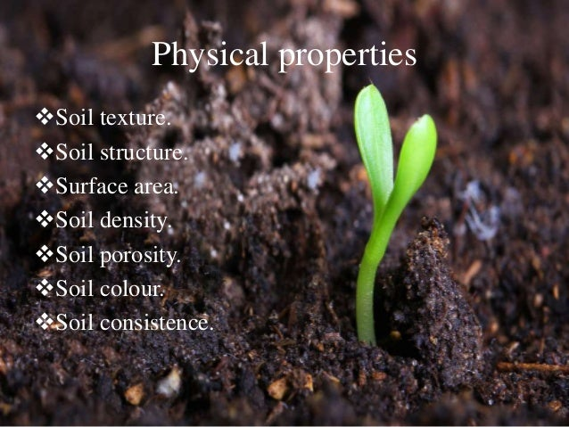 Physical properties of soils for Characteristics of soil