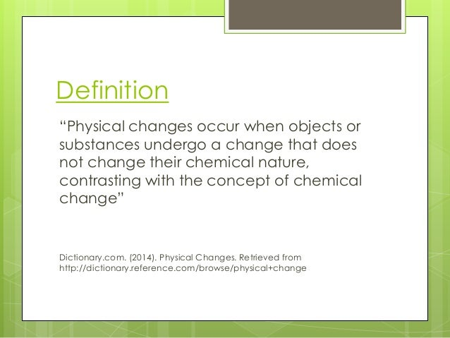 Physical Change Definition For Kids | myideasbedroom.com