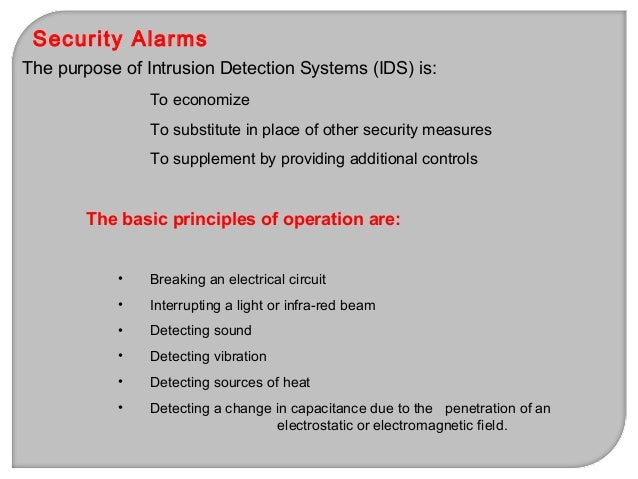 Line Supervision for Security Alarms Line Supervision is very important, as it is the weakest link in IDS system. Line nee...