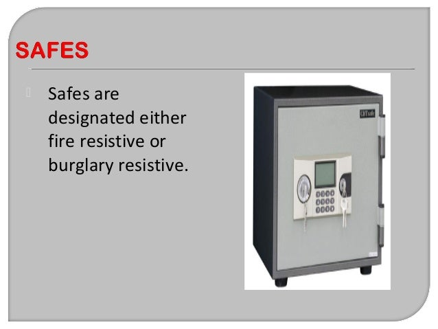"""The design features of burglary resistant safes generally require the door to be made of steel and at least 1.5"""" thick. Sa..."""