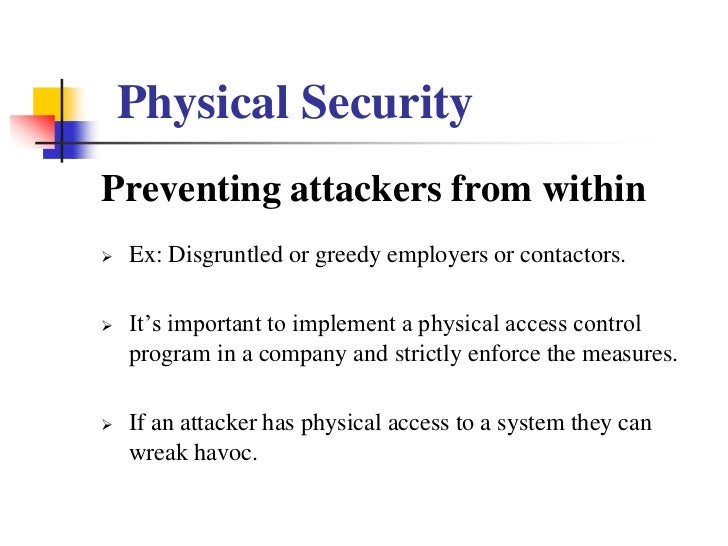 Physical Security Ppt