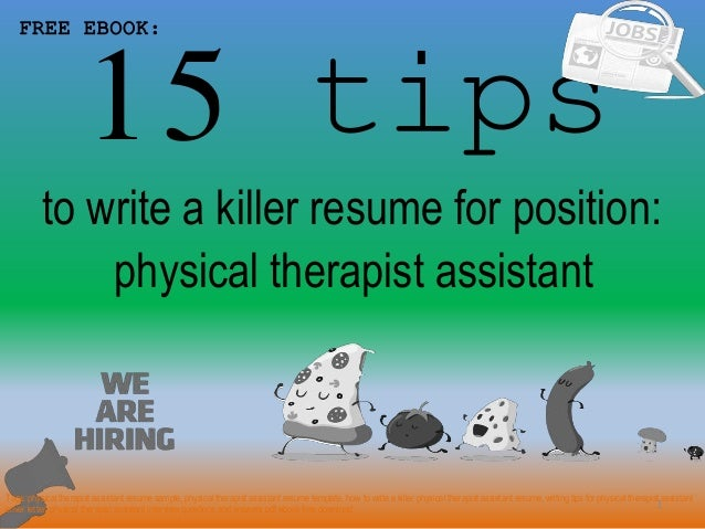 Physical therapist assistant resume sample pdf ebook