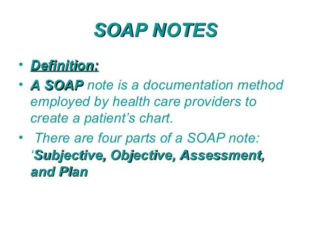 soap notes for therapist